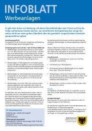 Informationsblatt Werbeanlagen [pdf, 147 kB]