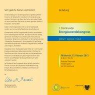 Anmeldung & Flyer zum 1. Dortmunder Energiewendekongress