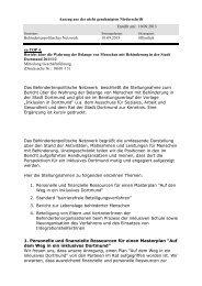 Empfehlung des Behindertenpolitischen Netzwerk ... - Stadt Dortmund
