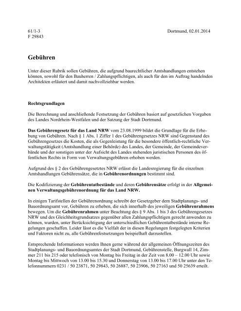 (AVwGebO NRW) [pdf, 74 kB] - Stadt Dortmund