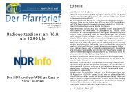 Radiogottesdienst am 18.8. um 10:00 Uhr - Bistum Hildesheim