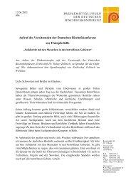 Aufruf des Vorsitzenden der Deutschen Bischofskonferenz zur ...