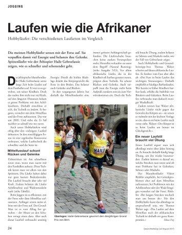 Laufen wie die Afrikaner