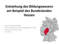 Entstehung des Bildungswesens am Beispiel des ... - Dr. Hans Toman