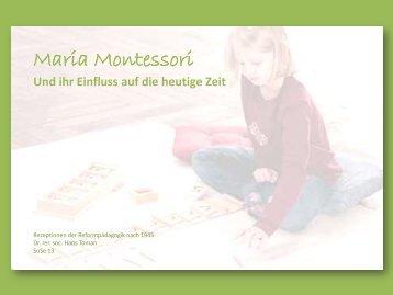 Maria Montessori - Dr. Hans Toman