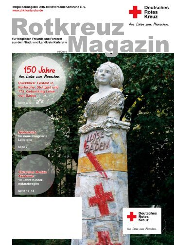Rotkreuz Magazin 2014_1_web.pdf - DRK Kreisverband Karlsruhe
