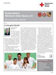 aktuellen Ausgabe - DRK Kreisverband Märkisch-Oder-Spree e.V.