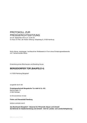 PROTOKOLL ZUR PREISGERICHTSSITZUNG - D&K Consult