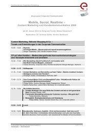 Audiokonferenz 2006 – Programmentwurf - Drupa
