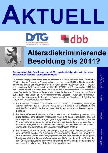 Tarifabschluss für Berlin - DSTG Jugend Berlin