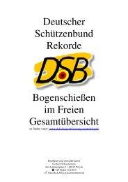 Deutscher Schützenbund Rekorde Bogenschießen im Freien ...