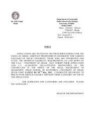 Adhoc Panel Notice and Application Form - University of Delhi