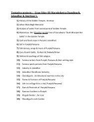Tentative projects :- Gyan Uday-III (Kurukshetra,Chandigarh ...