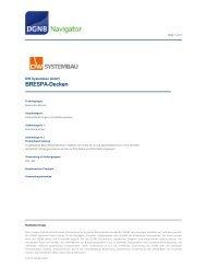 DGNB-Navigator - BRESPA-Produktdatenblatt - DW Systembau GmbH