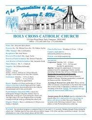 HOLY CROSS CATHOLIC CHURCH - E-churchbulletins.com