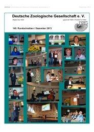 148. eRundschreiben Dezember 2013 - Deutsche Zoologische ...