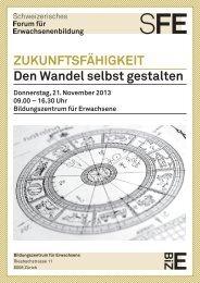 ZUKUNFTSFÄHIGKEIT Den Wandel selbst gestalten - EB Zürich