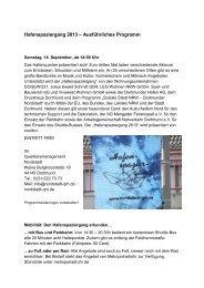 Hafenspaziergang 2013 – Ausführliches Programm - Stadt Dortmund