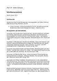 Liste der Veröffentlichungen, Stand: Januar 2014 - EBZ Business ...