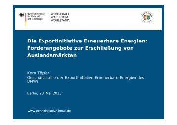 Vorstellung der Exportinitiative - Frau Töpfer