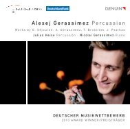 Alexej Gerassimez Percussion - eClassical