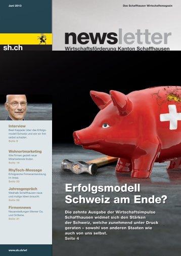 Erfolgsmodell Schweiz am Ende? - Wirtschaftsförderung Kanton ...