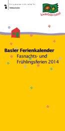 Tagesferien Fasnacht/ Frühling 2014