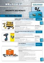 Nov. 2013 + Dez. 2013 ANgebote Des MoNAts - EDELMANN ...
