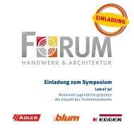 Einladung zum Symposium EinLadung - EGGER