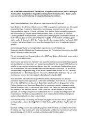 Am 15.09.2013 verabschiedete Gerd Hamm, Vizepräsident ...