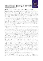 Als PDF speichern - European Health Forum Gastein