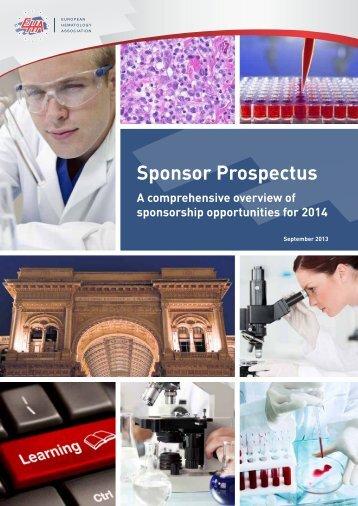 2014 Sponsor Opportunities Prospectus - European Hematology ...