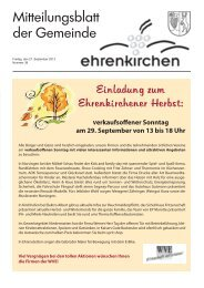 Einladung zum Ehrenkirchener Herbst: - Gemeinde Ehrenkirchen