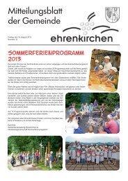 Sommerferienprogramm 2013 - Gemeinde Ehrenkirchen