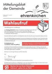 Wahlaufruf - Gemeinde Ehrenkirchen