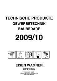 TECHNISCHE PRODUKTE - Eisen Wagner