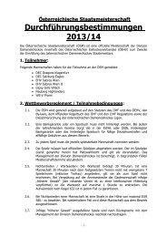 Durchführungsbestimmungen der Damen-Staatsmeisterschaft