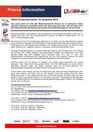 161213, IIHF U20 Weltmeisterschaft, Niederlage gegen Weißrussland