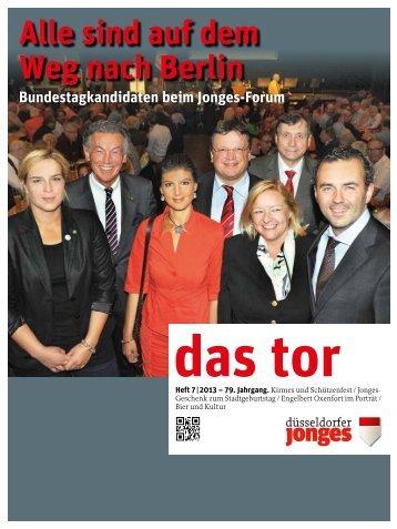 Das TOR 2013-07 - Heimatverein Düsseldorfer Jonges