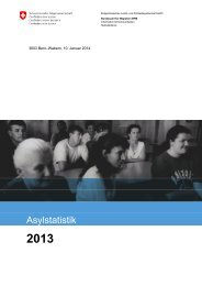 Kommentierte Asylstatistik 2013 - EJPD - admin.ch