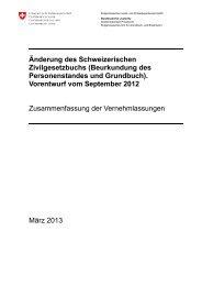 Bericht - EJPD