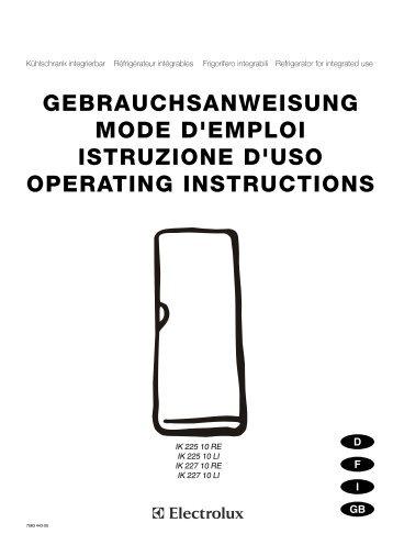 GEBRAUCHSANWEISUNG MODE D'EMPLOI ... - Elektroshop24