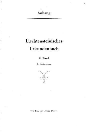 Liechtensteinisches Urkundenbuch - eLiechtensteinensia
