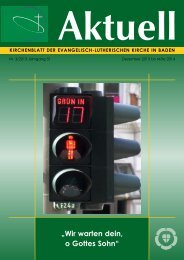 Aktuelles Kirchenblatt - Evangelisch-Lutherische Kirche in Baden