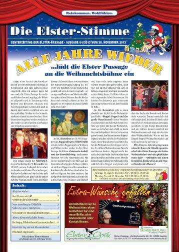 Letzte Ausgabe (PDF) vom 30. November 2013 - Elsterpassage