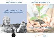 KONGRESS 2013 Gegen Gewalt an Kindern - Elternbildung Tirol