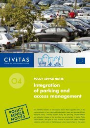 Policy notes access management & parking - Eltis