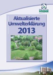 Umwelterklärung 2013 C.indd - EMAS