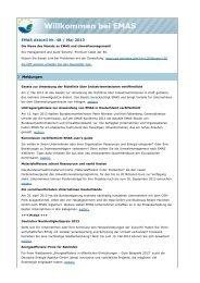 EMAS Aktuell Nr. 48 / Mai 2013