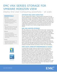 Solution Overview: EMC VNX Series Storage for VMware Horizon ...